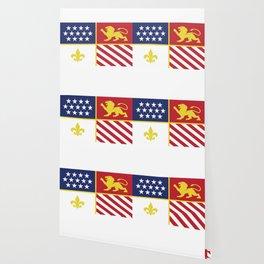 City of Detroit Flag in Minimal Design | Coat of Arms Wallpaper