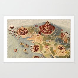 Salt Harbour Map Art Print