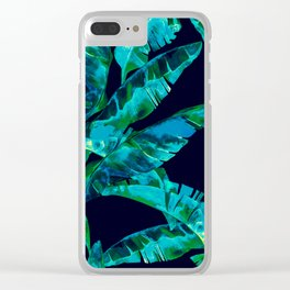 Tropical addiction - midnight grunge Clear iPhone Case