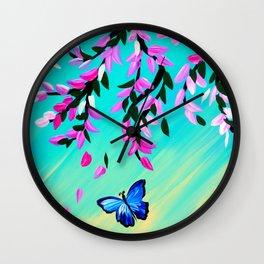 Butterfly Vertical Print Wall Clock