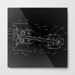 Patent Drawing: Drive Train II Metal Print