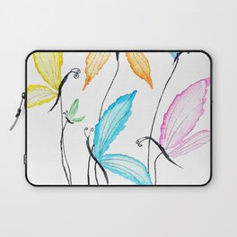 colorful flying butterflies Laptop Sleeve