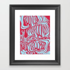Bouncing Around the Room in Red and Blue Framed Art Print