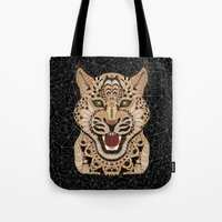leopard Tote Bags featuring Leopard by ArtLovePassion