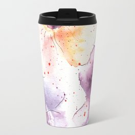Watercolor Flowers Painting Travel Mug