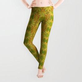 Sun Flower, Sunflower, Bohemian Floral Mandala Pattern Leggings