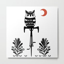 Boho Animals Owl Metal Print