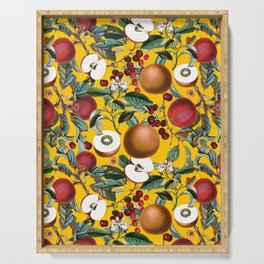 Vintage Fruit Pattern V Serving Tray