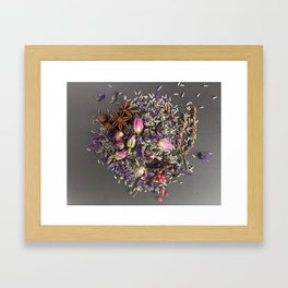 lavender, rose and spices Framed Art Print