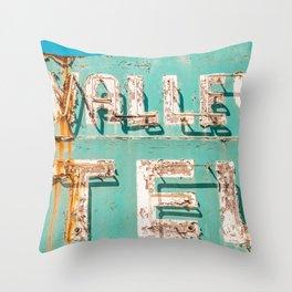 Valley Tel Throw Pillow