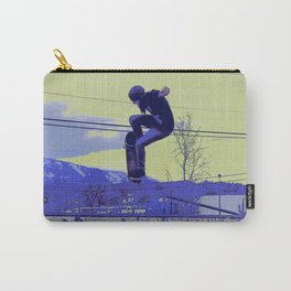 Getting Air - Skateboarder Carry-All Pouch