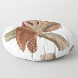 Pair of Owls Painting Floor Pillow