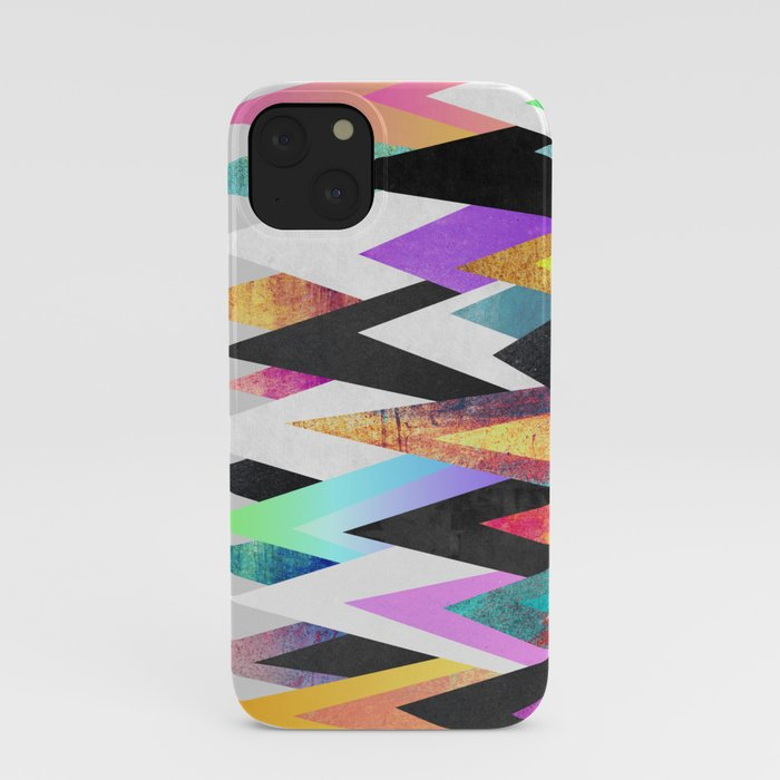 Colorful Peaks iPhone Case