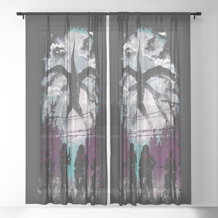 Something Strange Sheer Curtain