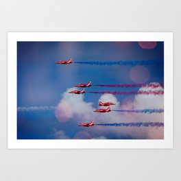Red Arrows In The Sky Art Print