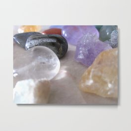 healing stones.. the new currency Metal Print