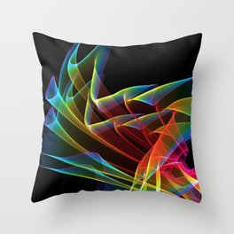 Dancing Northern Lights, Abstract Summer Sky Throw Pillow