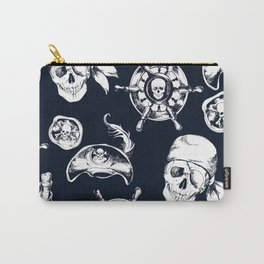 Navy Blue Pirate Pattern Carry-All Pouch