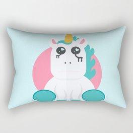 Even Unicorn's Get Sad Rectangular Pillow