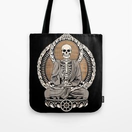 Starving Buddha - Wood Grain Tote Bag
