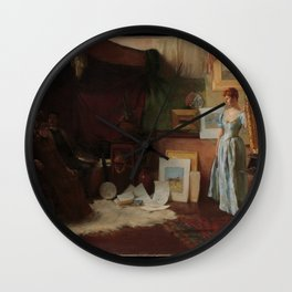 Charles Courtney Curran - Fair Critics Wall Clock