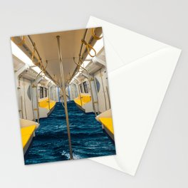 Metro is an ocean  Stationery Cards