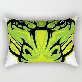 Green alligator Rectangular Pillow
