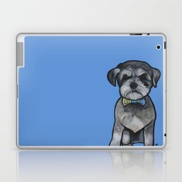 Gus the schnauzer mix Laptop & iPad Skin