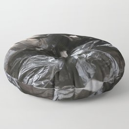 black plastic 02 Floor Pillow