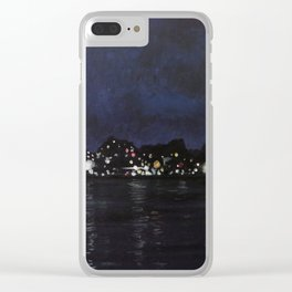 Midland Harbour at Night Clear iPhone Case