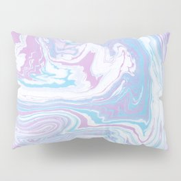 Iridescent marble watercolor Pillow Sham