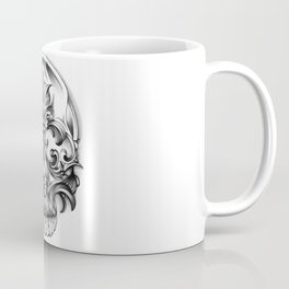 Engravering Skull Coffee Mug