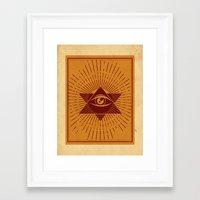 third eye Framed Art Prints featuring Third Eye by Stranger Designs