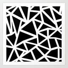 Ab Outline Thicker Black Art Print