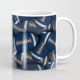 Blue Footballs Everywhere Coffee Mug