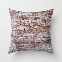 Old Boat Blue Throw Pillow