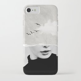 minimal collage /silence iPhone Case