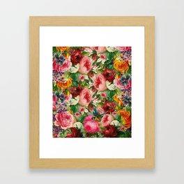 Colorful Floral Pattern | Je t'aime encore Framed Art Print