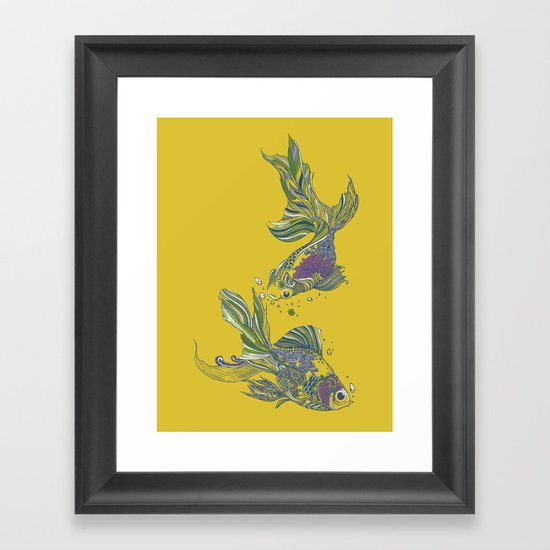 Blooming in Deep Framed Art Print
