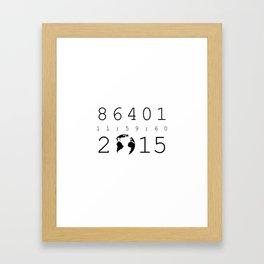 86401 Leap Second 2015 Framed Art Print