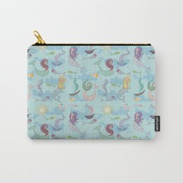 Mermaids, Sea and Boats Pattern Carry-All Pouch