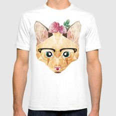 miss cat  MEDIUM Mens Fitted Tee White