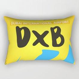 Airport code. Dubai. DXB Rectangular Pillow