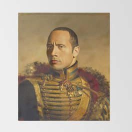 Dwayne (The Rock) Johnson - replaceface Throw Blanket