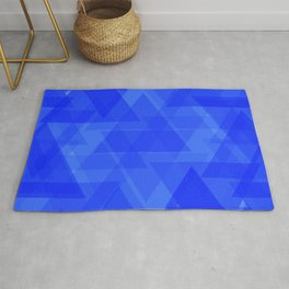 Gentle dark blue triangles in the intersection and overlay. Rug