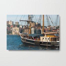 Southern Swan Sailing Ship, Sydney Harbour Metal Print