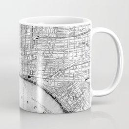 Vintage Map of Philadelphia Pennsylvania (1860) BW Coffee Mug
