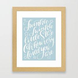 Twinkle Twinkle Little Star Blue Framed Art Print