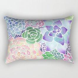 Masked Flora Collection Succulents Rectangular Pillow