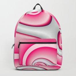 Interlinked Waves 2 (candy cane pink) Backpack